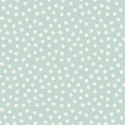 Lewis & Irene - Love Me Love Me Not - 5855 - Scattered Daisy Heads on Blue - A275.2 - Cotton Fabric